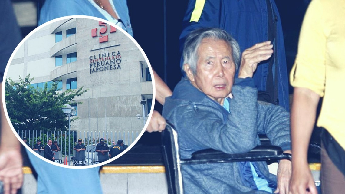 Alberto Fujimori es internado en clínica por deshidratación aguda