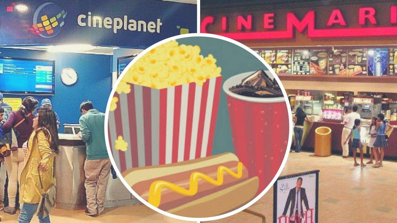 Cinemark y Cineplanet, la polémica por el ingreso de alimentos y bebidas