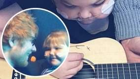 Ed Sheeran donó su guitarra a Melody, una niña de 11 años con una enfermedad terminal