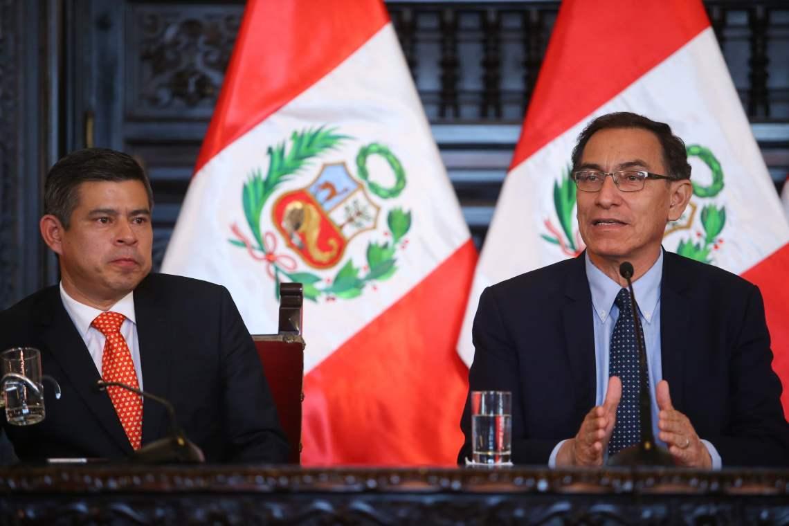 Martín Vizcarra invitó a Palacio al presidente del Congreso Luis Galarreta.