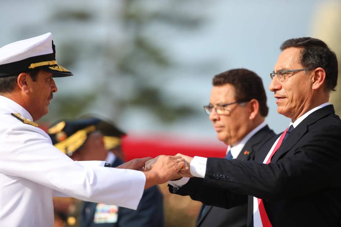El presidente Vizcarra fue reconocido como jefe supremo de las FF.AA. y P.N.P.