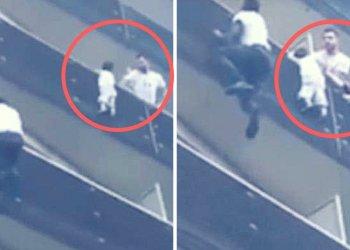 Héroe en París: un joven trepó cuatro pisos para salvar a un niño de caer al vacío