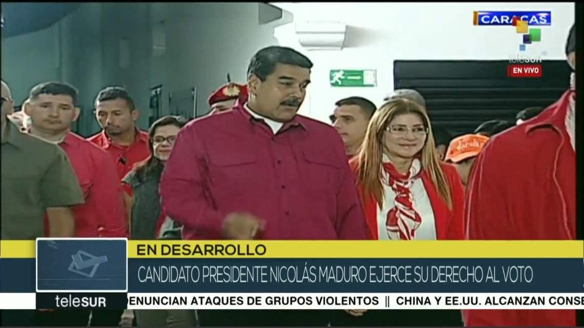 Nicolas Maduro en elecciones