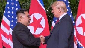 Donald Trump y Kim Jong-un en histórico encuentro (Foto washingtonpost.com)