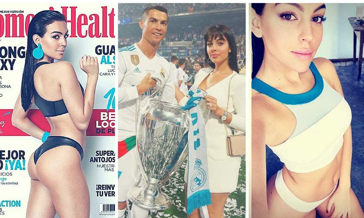Georgina Rodríguez, novia de Cristiano Ronaldo protagoniza sensual portada