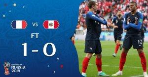 Perú cayó 1-0 ante Francia por el Mundial