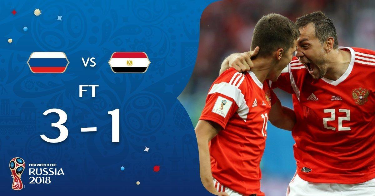 Rusia golea 5-0 a Arabia Saudita