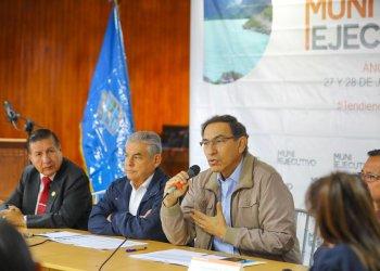El presidente Vizcarra lideró el Muni Ejecutivo Extraordinario de la Región Ancash.