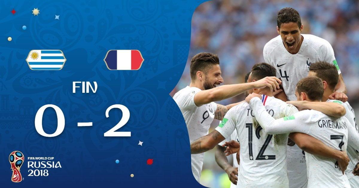 Francia elimina a Uruguay de Rusia 2018