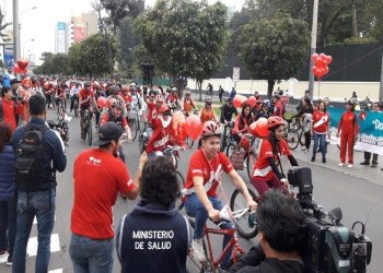 Más de 700 ciclistas promovieron la donación voluntaria de sangre