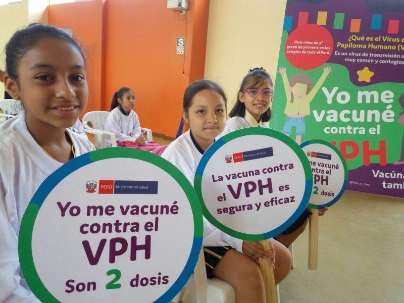 Dos dosis de vacuna VPH protegen del cáncer de cuello uterino a niñas de 9 a 13 años de edad