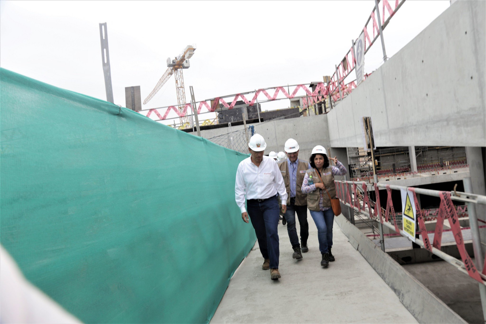 El presidente y la ministra de Cultura inspeccionaron obra de Museo Nacional del Perú