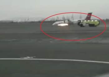 Avión de LC aterrizó de emergencia