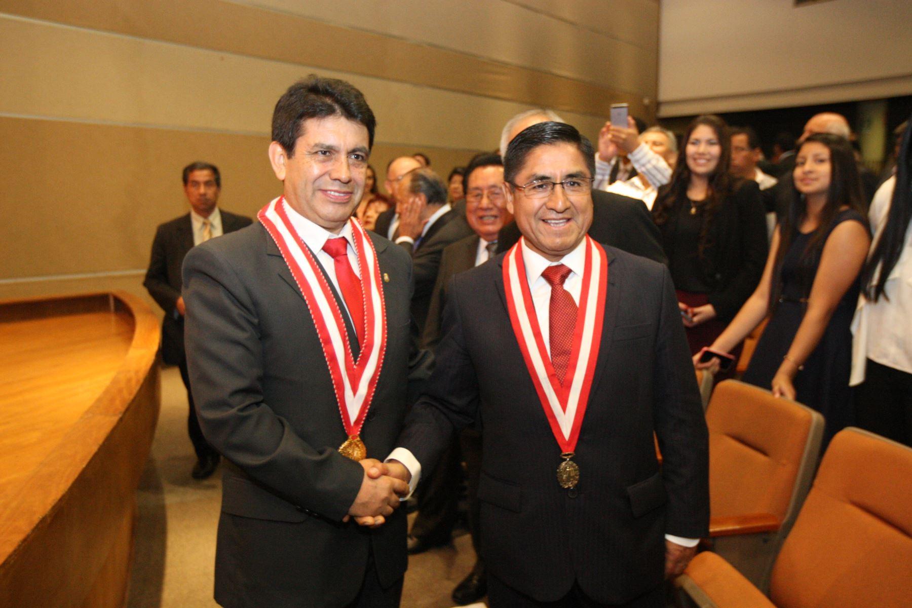 Fiscal Tomás Gálvez y vocal supremo César Hinostroza