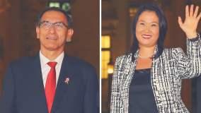 Martín Vizcarra y Keiko Fujimori