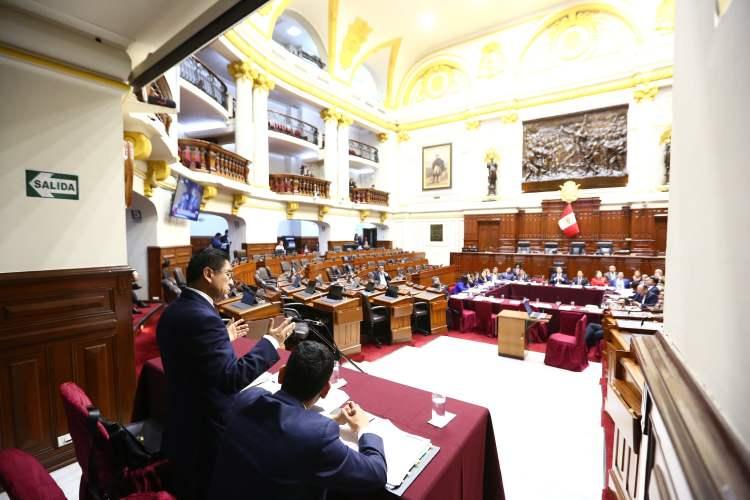 César Hinostroza en el Congreso
