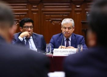 César Villanueva en el Congreso