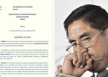 César Hinostroza va a prisión provisional: Aquí el documento de juez español