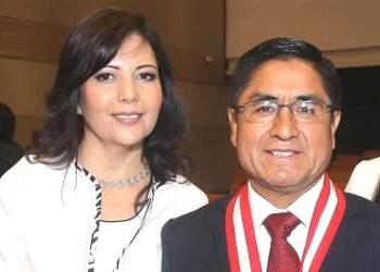 César Hinostroza y su esposa Gloria Gutiérrez Chapa