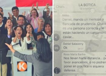 """Karina Beteta admite que chat """"La Botica"""" es real pero niega persecución a fiscal"""