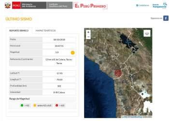 Sismo en Tacna de 5.0 grados causó alarma en la población