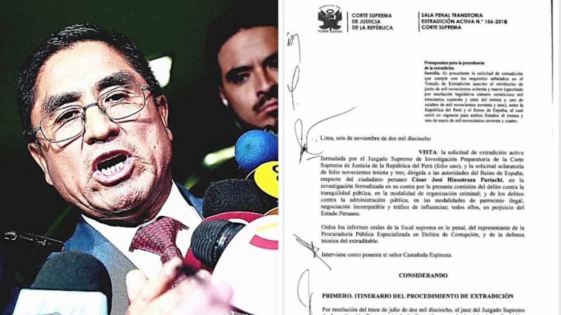 Extradición activa de César Hinostroza fue declarada procedente por el PJ