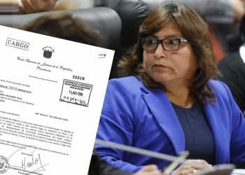 Betty Ananculí: PJ subsana expediente para levantar inmunidad a congresista