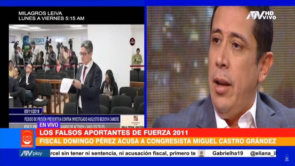"""Fujimorista Miguel Castro: """"El testigo protegido del que habla el fiscal soy yo"""""""