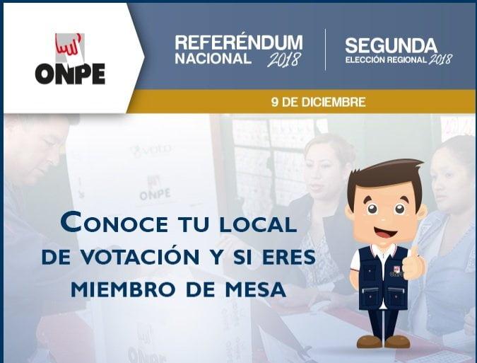 Referéndum: ¿Dónde me toca votar? ¿soy miembro de mesa? Mira aquí