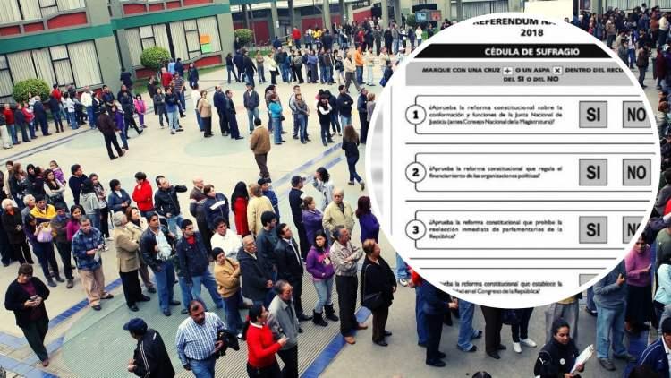 Resultados del referéndum: Ganó el SI en 3 primeras preguntas y NO a bicameralidad