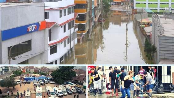 Zona afectada por aniego en San Juan de Lurigancho es declarada en emergencia ambiental
