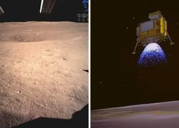 Histórico: Sonda china llega a la Luna y difunden impactantes fotos