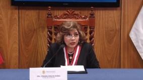Fiscal de la Nación Zoraida Ávalos declaró emergencia del Ministerio Público