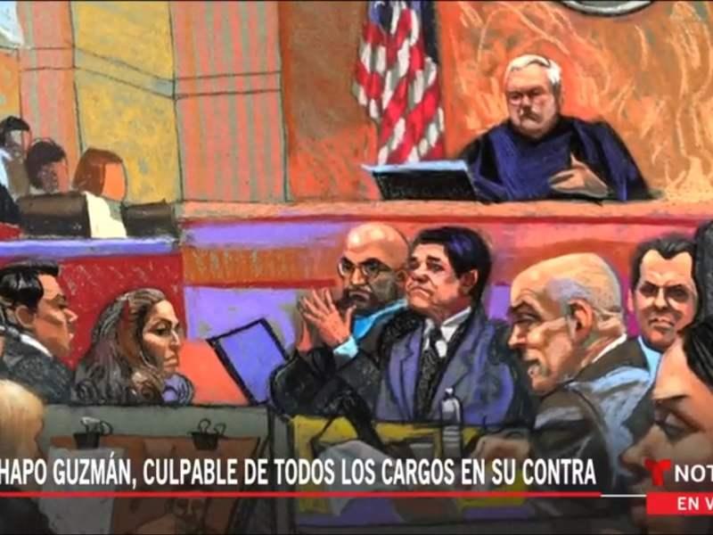 El 'Chapo' Guzmán declarado culpable de 10 cargos por drogas y lavado