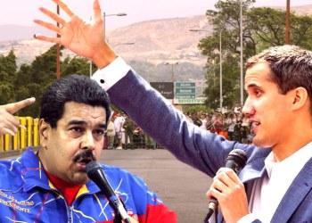 Nicolás Maduro y Juan Guaidó en la frontera