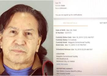 Documentos confirman que Alejandro Toledo fue detenido ebrio en EE.UU.