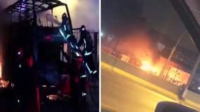 Al menos 20 muertos por incendio en bus en exterminal de Fiori