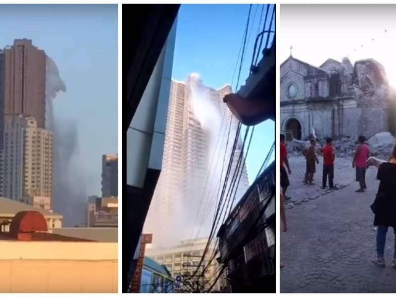 Terremoto en Filipinas imágenes impactantes