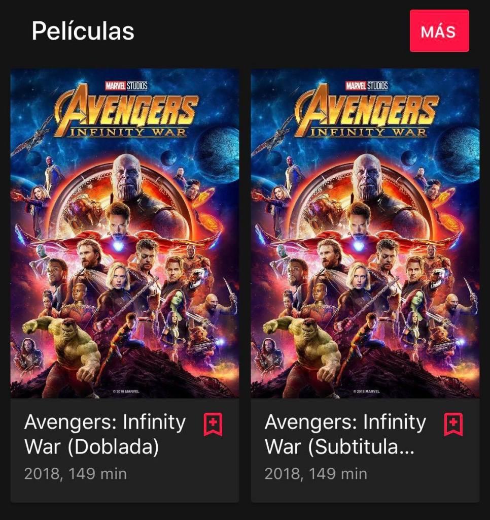 Avengers Endgame aún no estará disponible en Google Películas