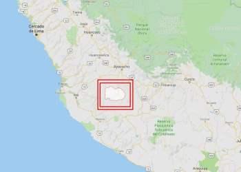 Sismo de 5.3 grados se registró hoy en Huanca Sancos Ayacucho