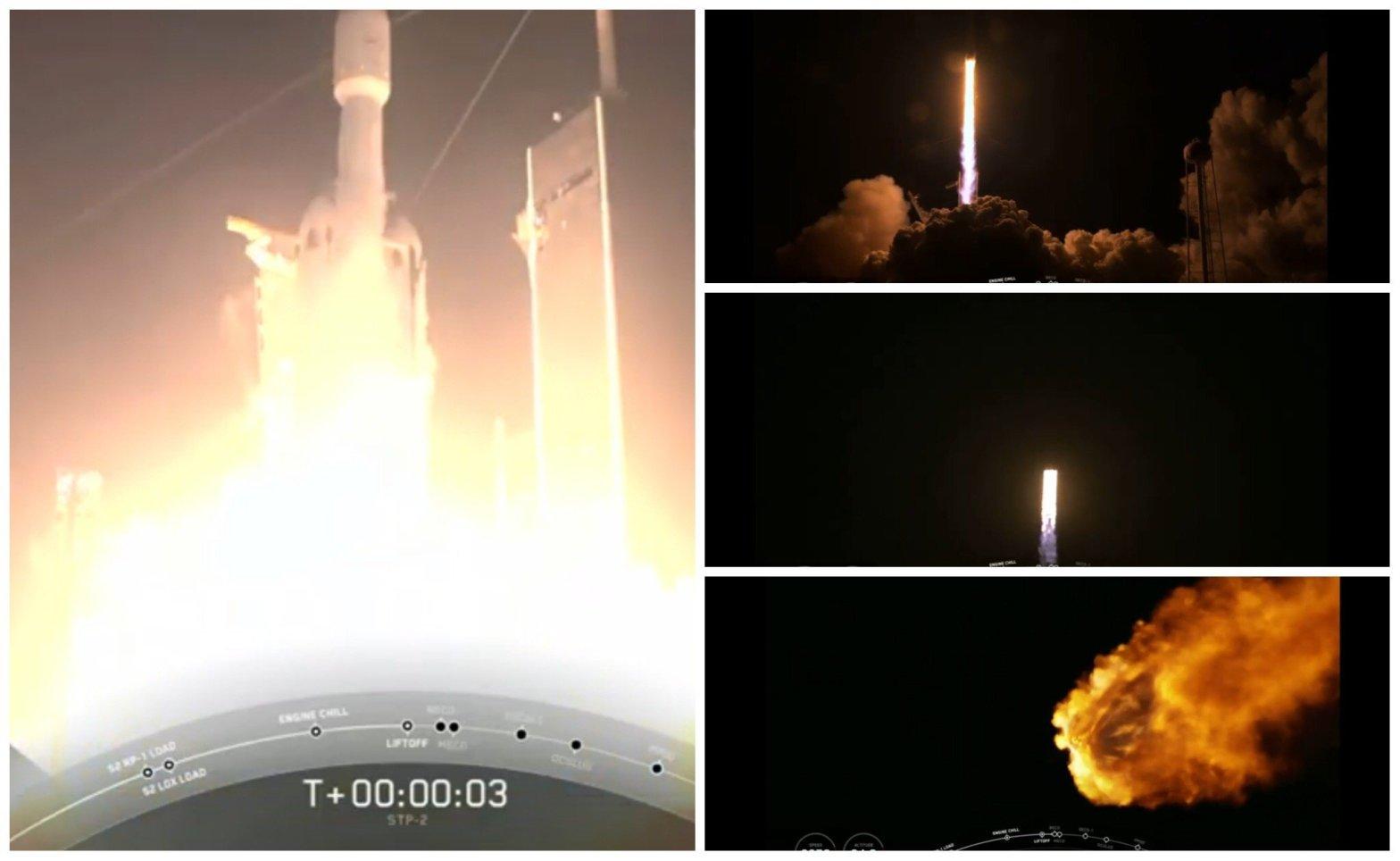 SpaceX lanzó al espacio 24 satélites, reloj atómico y cenizas de 152 muertos