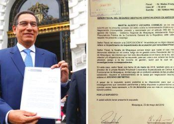 Martín Vizcarra a disposición de fiscal pero aclara: 'Todo fue archivado'