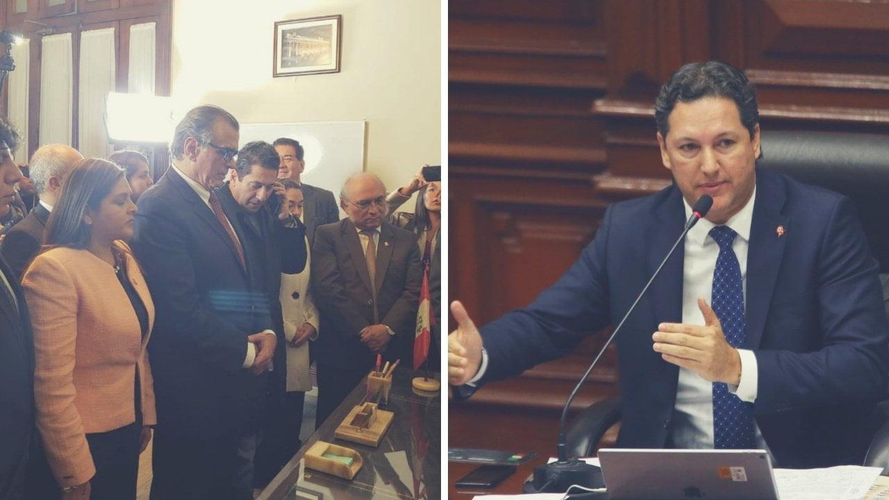 Pedro Olaechea y Daniel Salaverry postulan a la presidencia del Congreso