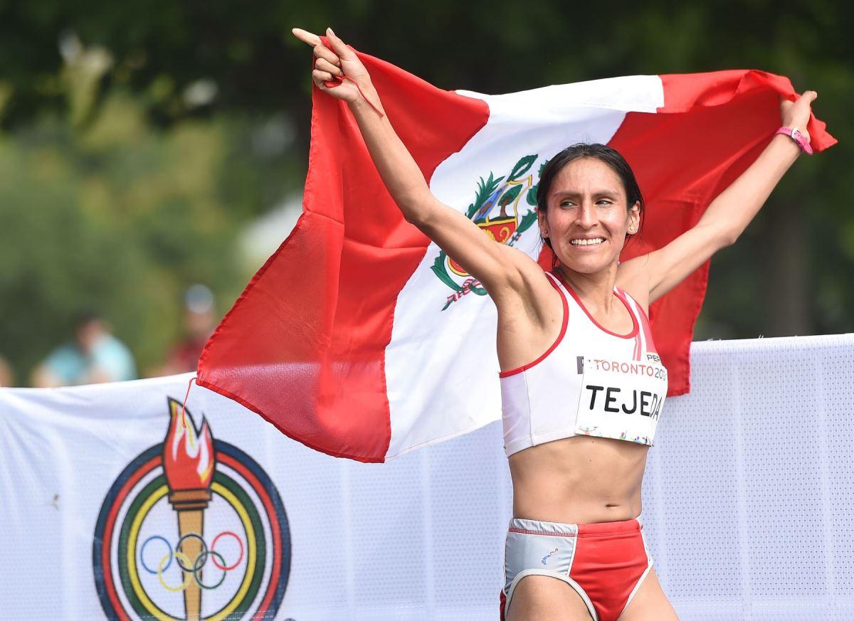 Gladys Tejeda gana medalla para Perú en Maratón