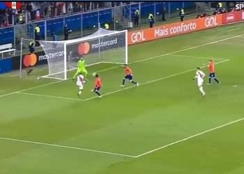 Gol de Perú ante Chile