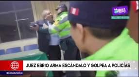 Juez ebrio protagoniza escándalo en comisaría de Arequipa