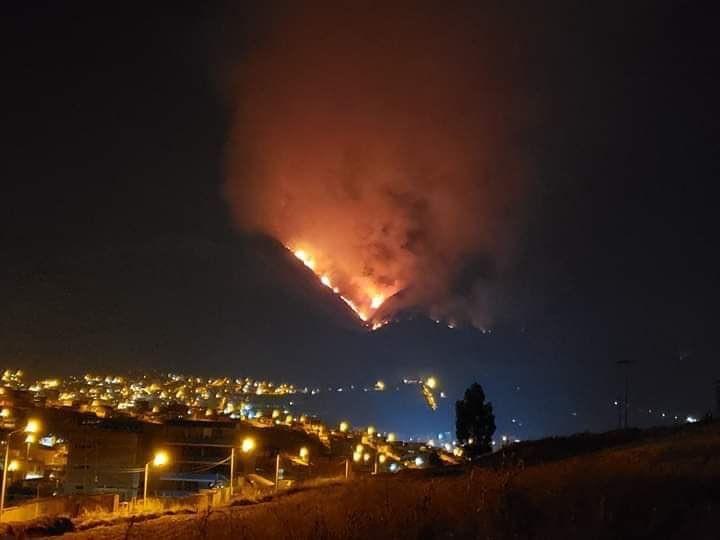Cusco en alerta por gran incendio forestal en Cerro Picol