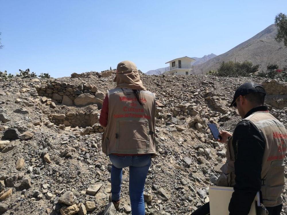 Destruyen zona arqueológica La Rinconada Catapalla, en Lunahuaná
