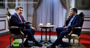 Nicolás Maduro y Rafael Correa (Fuente RT)