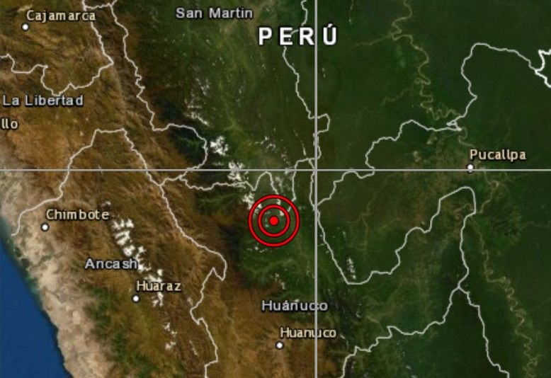 Sismo en Huánuco de magnitud 5.1 se registró hoy en Aucayacu